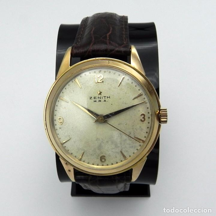 ANTIGUO RELOJ DE HOMBRE ZENITH M.R.A GOLD SOLID MANUAL 18 JEWELS COLLECTION (Relojes - Relojes Actuales - Zenith)