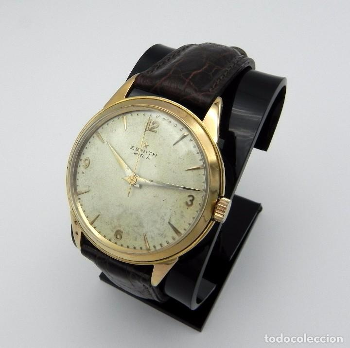 Relojes - Zenith: Antiguo reloj de Hombre Zenith M.R.A Gold solid Manual 18 jewels Collection - Foto 3 - 95763731
