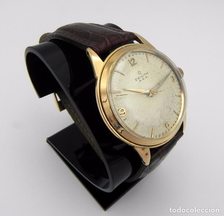 Relojes - Zenith: Antiguo reloj de Hombre Zenith M.R.A Gold solid Manual 18 jewels Collection - Foto 6 - 95763731