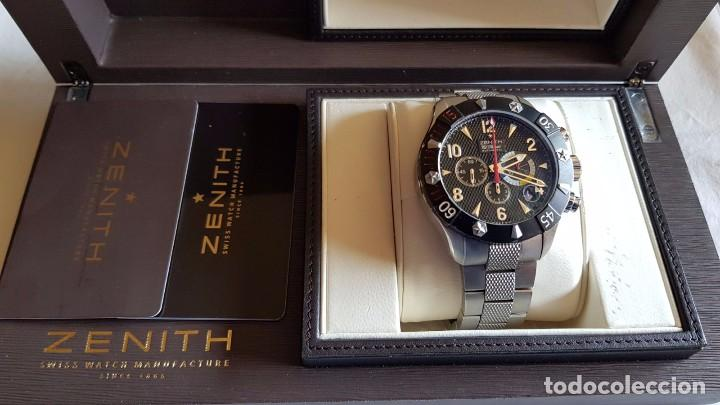 ZENITH DEFY RAINBOW CLASSIC CHRONOGRAPH 47 MMS IMPECABLE CAJA Y DOCUMENTACION REF.03.526.4000 (Relojes - Relojes Actuales - Zenith)