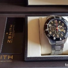 Relojes - Zenith: ZENITH DEFY RAINBOW CLASSIC CHRONOGRAPH 47 MMS IMPECABLE CAJA Y DOCUMENTACION REF.03.526.4000. Lote 113364583