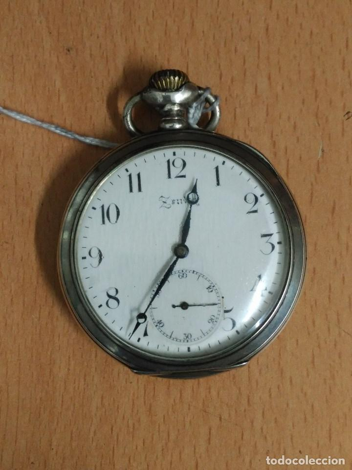 RELOJ DE BOLSILLO ANTIGUO DE PLATA 800. MARCA ZENITH. (Relojes - Relojes Actuales - Zenith)