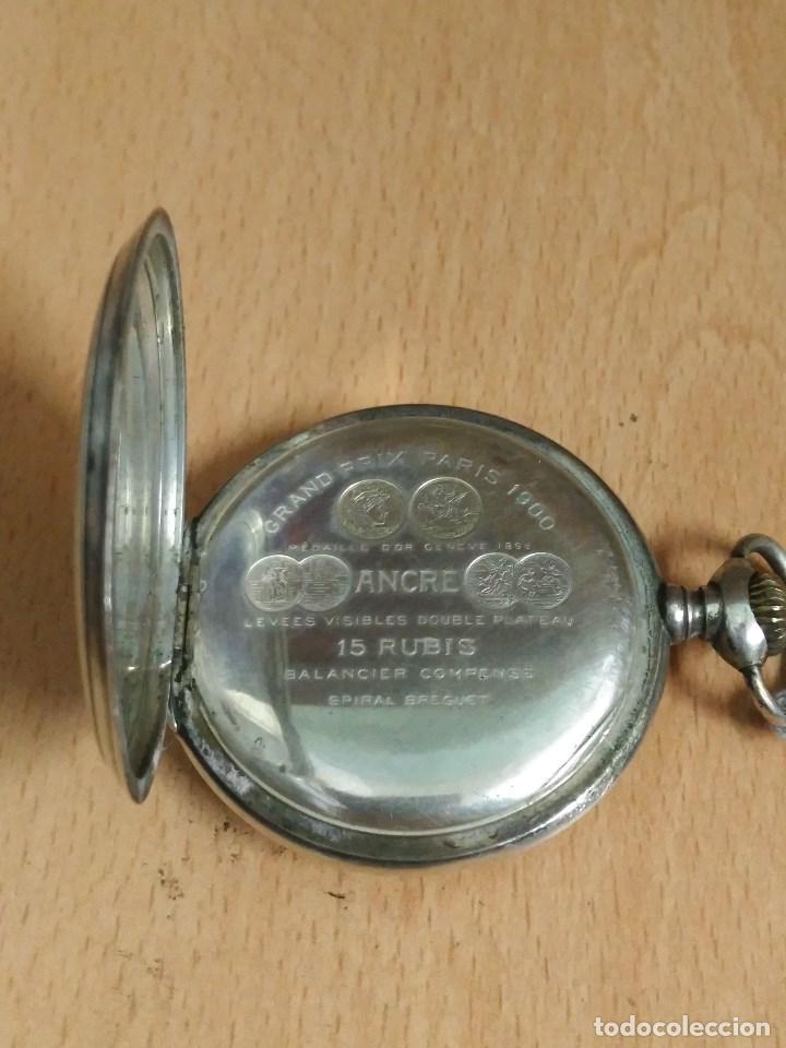Relojes - Zenith: RELOJ DE BOLSILLO ANTIGUO DE PLATA 800. MARCA ZENITH. - Foto 4 - 116754179