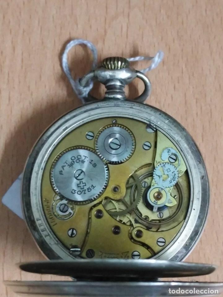 Relojes - Zenith: RELOJ DE BOLSILLO ANTIGUO DE PLATA 800. MARCA ZENITH. - Foto 6 - 116754179
