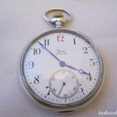Relojes - Zenith: EXCEPCIONAL ZENITH DE BOLSILLO EN PLATA MACIZA CABALLERO VINTAGE. Lote 117130095
