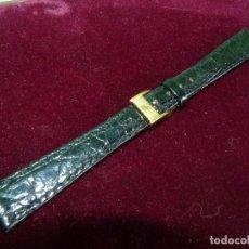 Relógios - Zenith: ELEGANTE CORREA RELOJ ZENITH COLOR NEGRO ORIGINAL AÑOS 60 NUEVA MARCADA. Lote 128103407