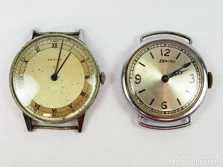 LOTE DE 2 ANTIGUOS RELOJES ZENITH (Relojes - Relojes Actuales - Zenith)