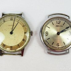 Relojes - Zenith: LOTE DE 2 ANTIGUOS RELOJES ZENITH. Lote 130400890