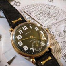 Relojes - Zenith: PRECIOSO E IMPECABLE RELOJ ORO PULSERA ZENITH VINTAGE TIPO MILITAR. Lote 132132530