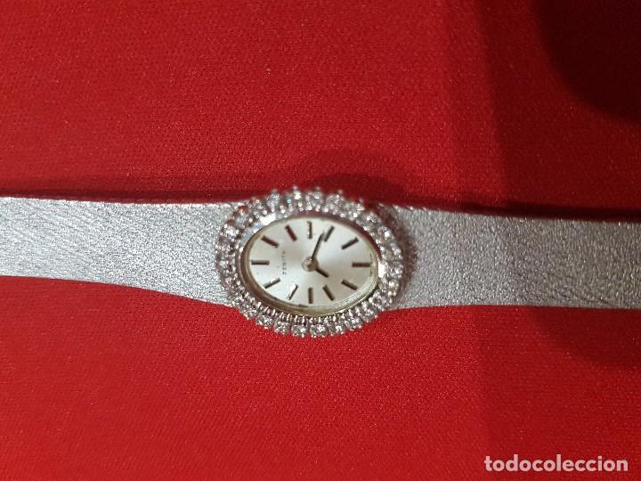 Relojes - Zenith: Antiguo reloj de pulsera para mujer, Zenith, oro y brillantes, joya de los años 50 - Foto 5 - 132570982