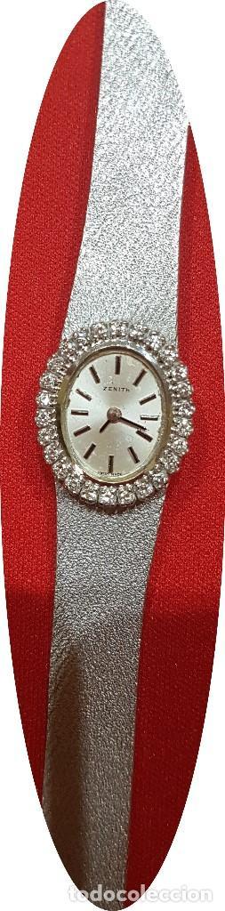 Relojes - Zenith: Antiguo reloj de pulsera para mujer, Zenith, oro y brillantes, joya de los años 50 - Foto 6 - 132570982