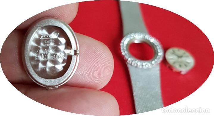 Relojes - Zenith: Antiguo reloj de pulsera para mujer, Zenith, oro y brillantes, joya de los años 50 - Foto 9 - 132570982