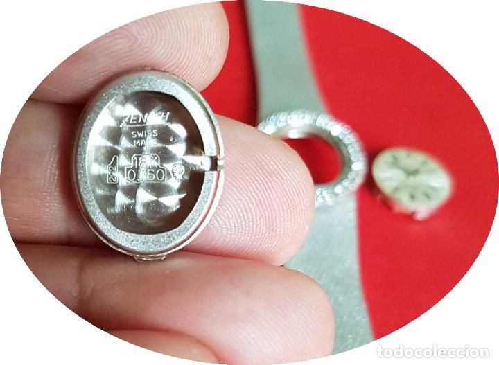 Relojes - Zenith: Antiguo reloj de pulsera para mujer, Zenith, oro y brillantes, joya de los años 50 - Foto 10 - 132570982