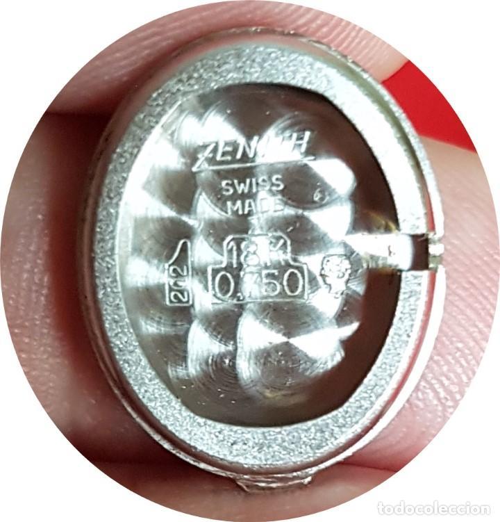 Relojes - Zenith: Antiguo reloj de pulsera para mujer, Zenith, oro y brillantes, joya de los años 50 - Foto 13 - 132570982