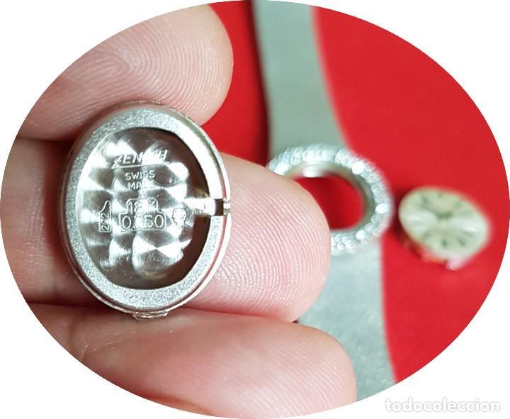 Relojes - Zenith: Antiguo reloj de pulsera para mujer, Zenith, oro y brillantes, joya de los años 50 - Foto 14 - 132570982