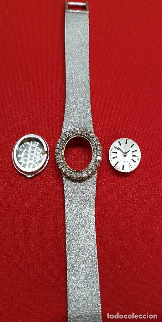 Relojes - Zenith: Antiguo reloj de pulsera para mujer, Zenith, oro y brillantes, joya de los años 50 - Foto 15 - 132570982