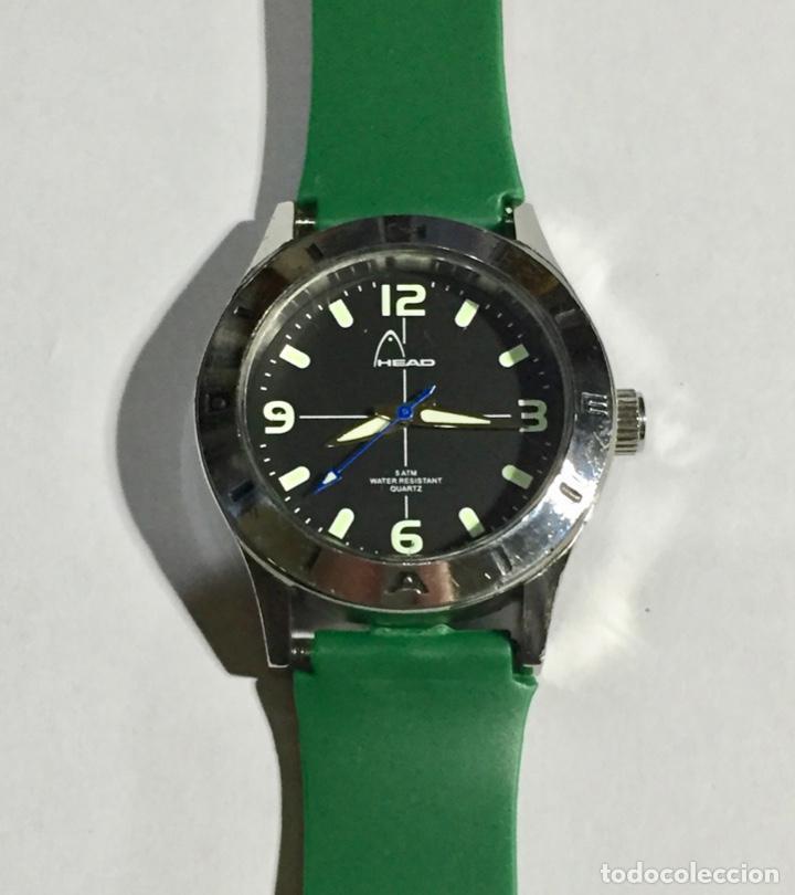 HEAD (MARCA DEPORTIVA ) CAJA DE ACERO, 34 M/M.Ø MAQUINA MIYOTA QUARTZ. PULSERA NUEVA ( VER FOTOS ) (Relojes - Relojes Actuales - Zenith)