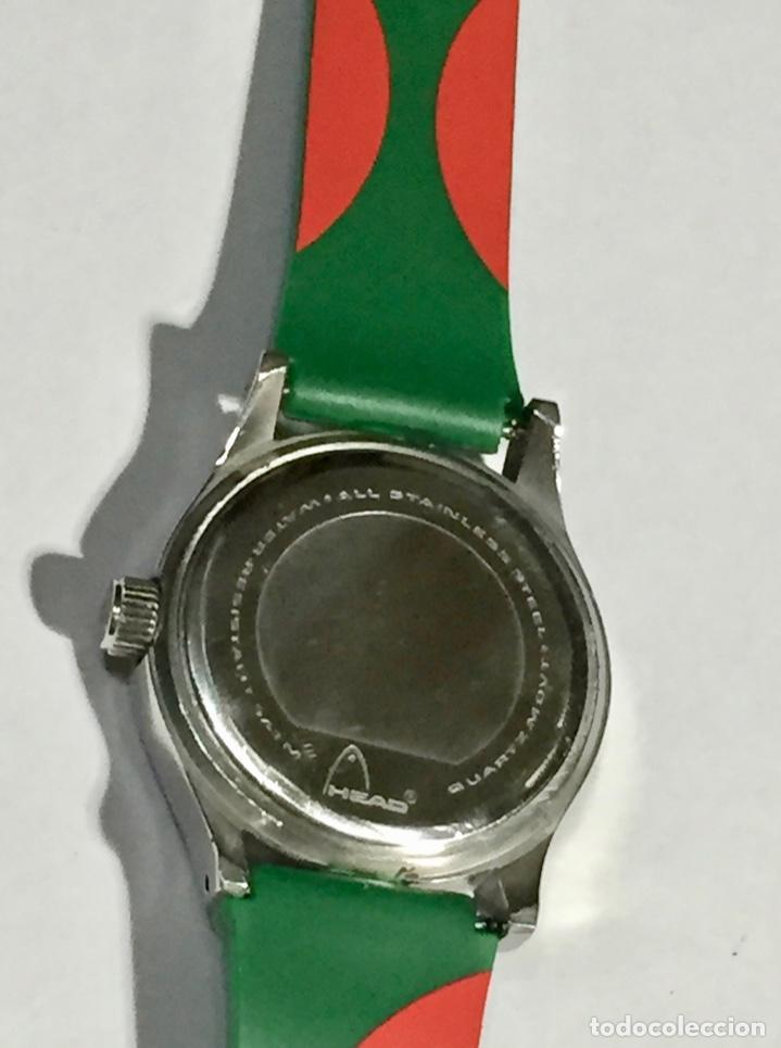 Relojes - Zenith: HEAD (MARCA DEPORTIVA ) CAJA DE ACERO, 34 M/M.Ø MAQUINA MIYOTA QUARTZ. PULSERA NUEVA ( VER FOTOS ) - Foto 6 - 138804578