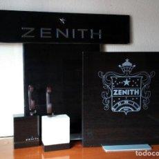 Relojes - Zenith: ESPECTACULAR EXPOSITOR OFICIAL DE RELOJES ZENITH. 2 TRASERAS + 2 TACOS CON SUS FLEJES. EL PRIMERO.. Lote 153098158