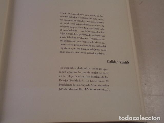 Relojes - Zenith: RELOJES ZENITH - LIBRO CONMEMORATIVO - AÑO 1959 - Foto 2 - 168093948