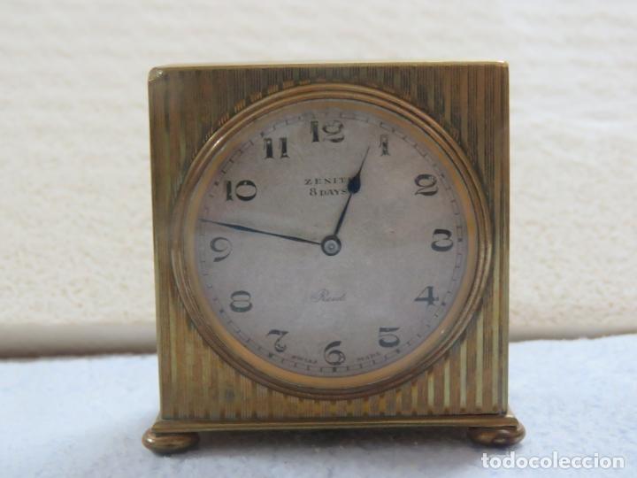 Relojes - Zenith: PRECIOSO RELOJ DE VIAJE DE LA MARCA ZENITH DE 8 DIAS EN SU CAJA ORIGINAL Y FUNCIONA PERFECTO, 1920 - Foto 4 - 174929793