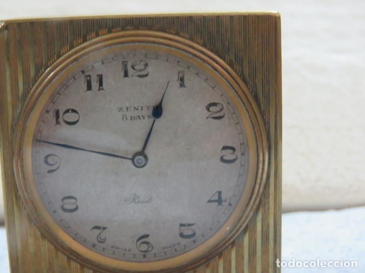 Relojes - Zenith: PRECIOSO RELOJ DE VIAJE DE LA MARCA ZENITH DE 8 DIAS EN SU CAJA ORIGINAL Y FUNCIONA PERFECTO, 1920 - Foto 7 - 174929793