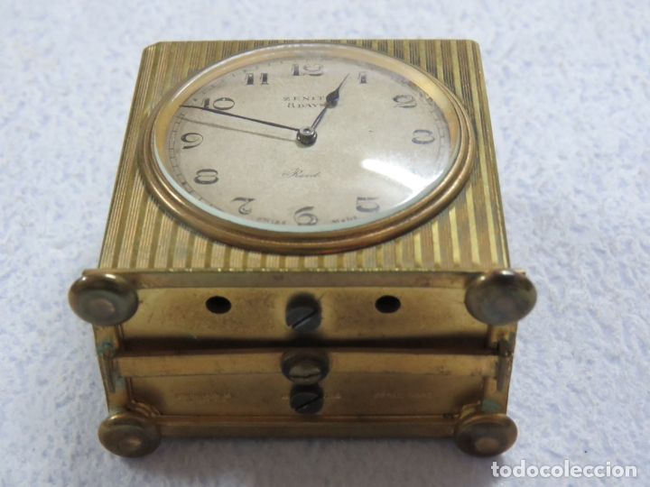 Relojes - Zenith: PRECIOSO RELOJ DE VIAJE DE LA MARCA ZENITH DE 8 DIAS EN SU CAJA ORIGINAL Y FUNCIONA PERFECTO, 1920 - Foto 9 - 174929793