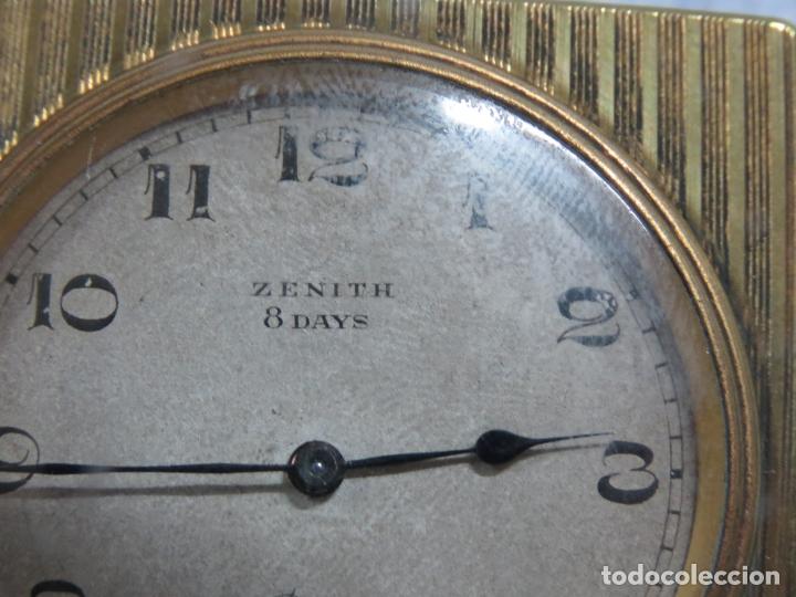 Relojes - Zenith: PRECIOSO RELOJ DE VIAJE DE LA MARCA ZENITH DE 8 DIAS EN SU CAJA ORIGINAL Y FUNCIONA PERFECTO, 1920 - Foto 12 - 174929793