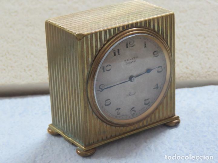 Relojes - Zenith: PRECIOSO RELOJ DE VIAJE DE LA MARCA ZENITH DE 8 DIAS EN SU CAJA ORIGINAL Y FUNCIONA PERFECTO, 1920 - Foto 14 - 174929793