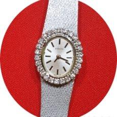 Relojes - Zenith: ANTIGUO RELOJ DE PULSERA PARA MUJER, ZENITH, ORO Y BRILLANTES, JOYA DE LOS AÑOS 60. Lote 181849438