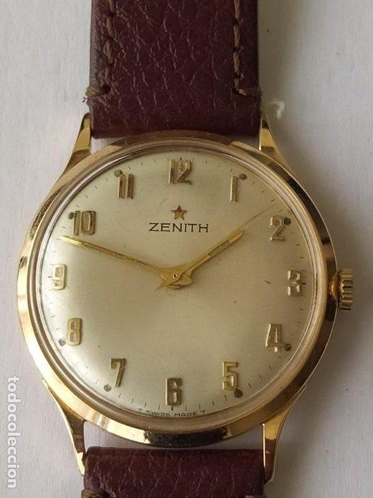 VINTAGE RELOJ ZENITH SWISS MADE CAJA DE ORO 18K FUNCIONA PERFECTAMENTE AÑOS 60 (Relojes - Relojes Actuales - Zenith)