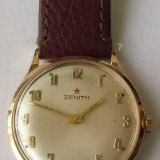 Relojes - Zenith: VINTAGE RELOJ ZENITH SWISS MADE CAJA DE ORO 18K FUNCIONA PERFECTAMENTE AÑOS 60. Lote 190596685