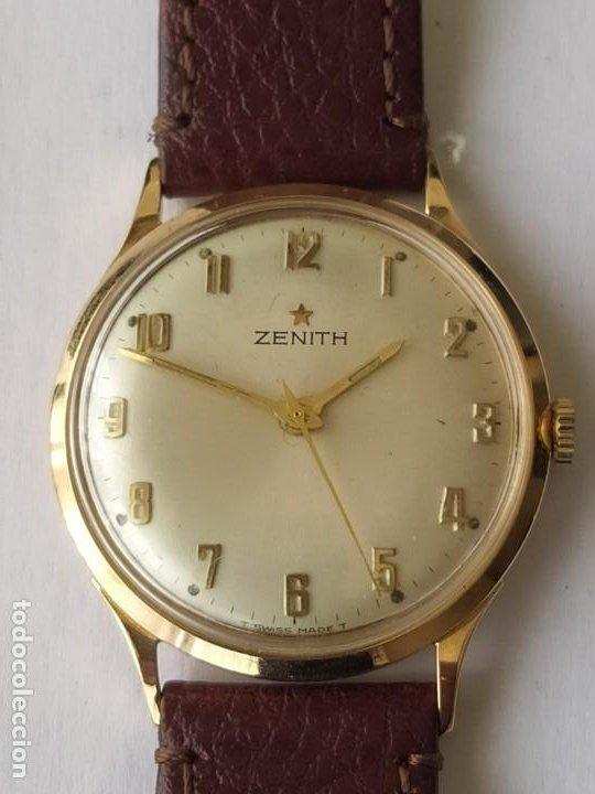 Relojes - Zenith: Vintage RELOJ ZENITH SWISS MADE CAJA DE ORO 18K FUNCIONA PERFECTAMENTE Años 60 - Foto 2 - 190596685
