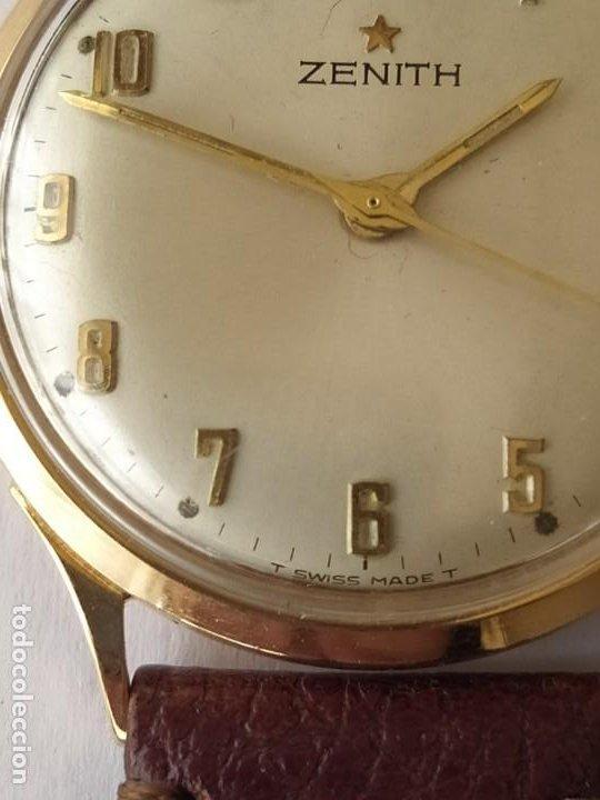 Relojes - Zenith: Vintage RELOJ ZENITH SWISS MADE CAJA DE ORO 18K FUNCIONA PERFECTAMENTE Años 60 - Foto 3 - 190596685