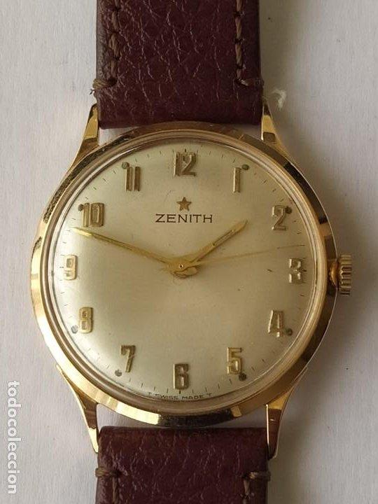Relojes - Zenith: Vintage RELOJ ZENITH SWISS MADE CAJA DE ORO 18K FUNCIONA PERFECTAMENTE Años 60 - Foto 4 - 190596685