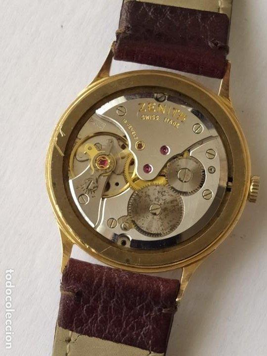 Relojes - Zenith: Vintage RELOJ ZENITH SWISS MADE CAJA DE ORO 18K FUNCIONA PERFECTAMENTE Años 60 - Foto 12 - 190596685