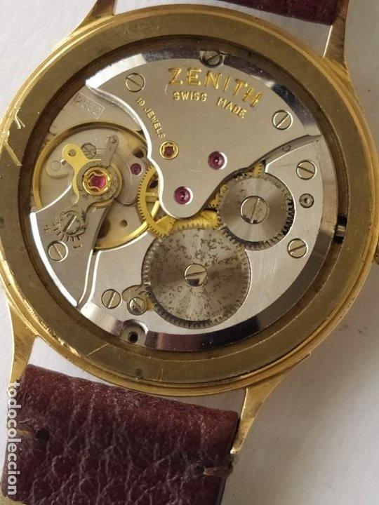 Relojes - Zenith: Vintage RELOJ ZENITH SWISS MADE CAJA DE ORO 18K FUNCIONA PERFECTAMENTE Años 60 - Foto 13 - 190596685