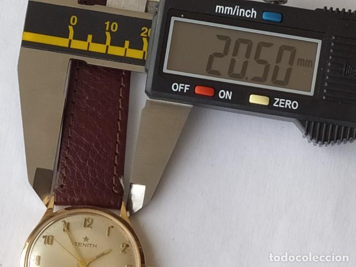 Relojes - Zenith: Vintage RELOJ ZENITH SWISS MADE CAJA DE ORO 18K FUNCIONA PERFECTAMENTE Años 60 - Foto 18 - 190596685
