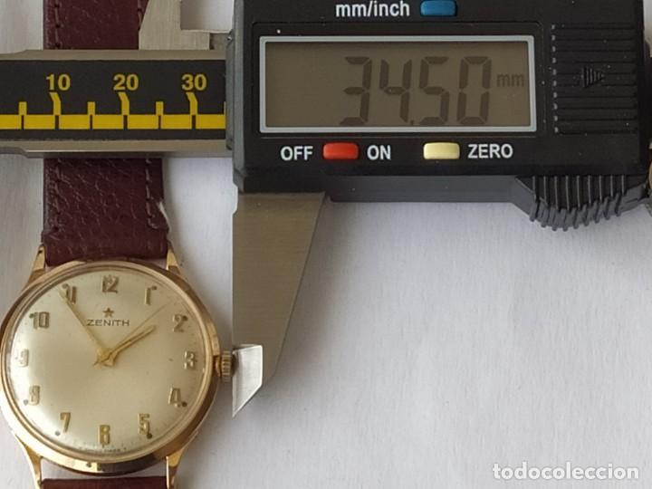 Relojes - Zenith: Vintage RELOJ ZENITH SWISS MADE CAJA DE ORO 18K FUNCIONA PERFECTAMENTE Años 60 - Foto 19 - 190596685