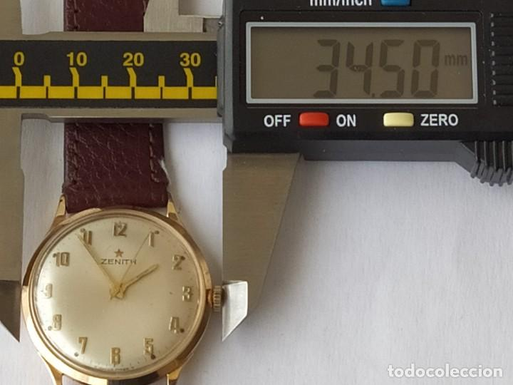 Relojes - Zenith: Vintage RELOJ ZENITH SWISS MADE CAJA DE ORO 18K FUNCIONA PERFECTAMENTE Años 60 - Foto 20 - 190596685