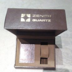 Relojes - Zenith: ANTIGUA CAJA ESTUCHE DE RELOJ ZENITH QUARTZ FORRADA EN PIEL. Lote 194636731