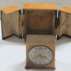 Relojes - Zenith: RELOJ DE VIAJE DESPERTADOR CON SONERIA DE LA MARCA ZENITH EN SU CAJA ORIGINAL Y FUNCIONA BIEN, 1910. Lote 207172167