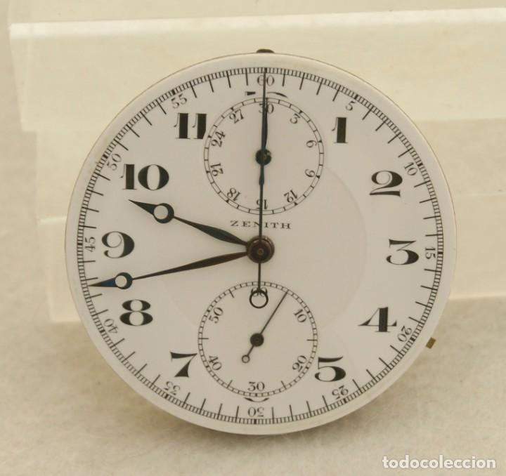 MAQUINARIA ZENITH RELOJ Y CRONOGRAFO BOLSILLO CON ESFERA Y AGUJAS (Relojes - Relojes Actuales - Zenith)