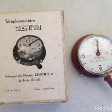 Relojes - Zenith: CURIOSO ZENITH MECANICO TELEPHONOMETRE CONTADOR PASOS TELEFONO CON SU CAJA ORIGINAL. Lote 234295480