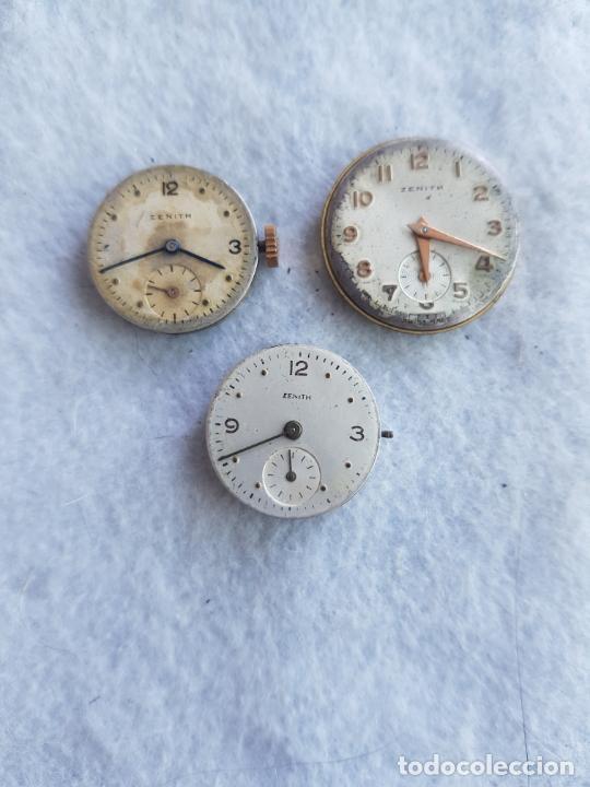 Relojes - Zenith: LOTE DE 3 CALIBRES ZENITH MANUFACTURA CON ESFERA ORIGINAL D3 - Foto 2 - 240606500