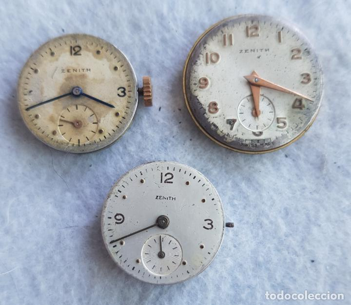LOTE DE 3 CALIBRES ZENITH MANUFACTURA CON ESFERA ORIGINAL D3 (Relojes - Relojes Actuales - Zenith)