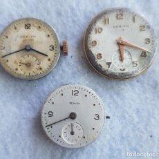 Relojes - Zenith: LOTE DE 3 CALIBRES ZENITH MANUFACTURA CON ESFERA ORIGINAL D3. Lote 240606500