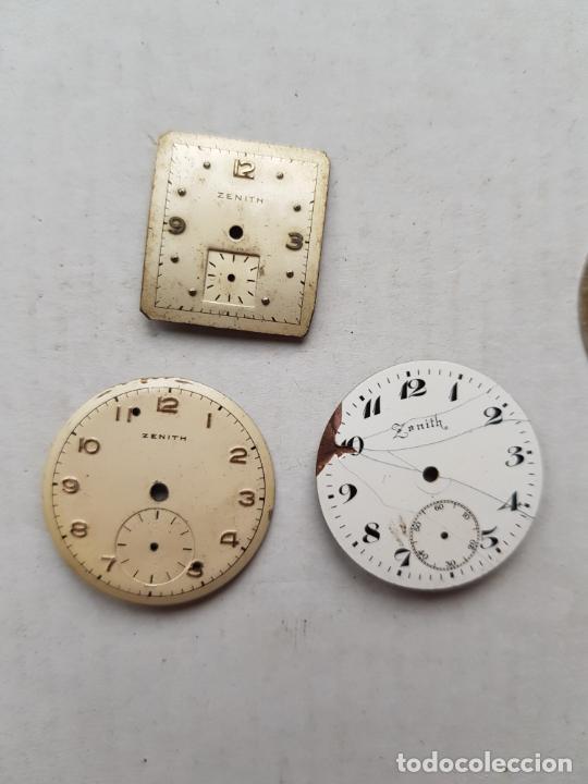 Relojes - Zenith: LOTE DE PIEZAS ZENITH ESFERAS Y UNA MAQUINA VER FOTOS ANTIGUAS - Foto 5 - 240800950