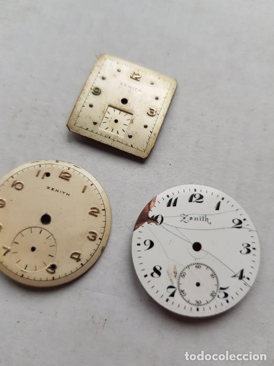 Relojes - Zenith: LOTE DE PIEZAS ZENITH ESFERAS Y UNA MAQUINA VER FOTOS ANTIGUAS - Foto 2 - 240800950