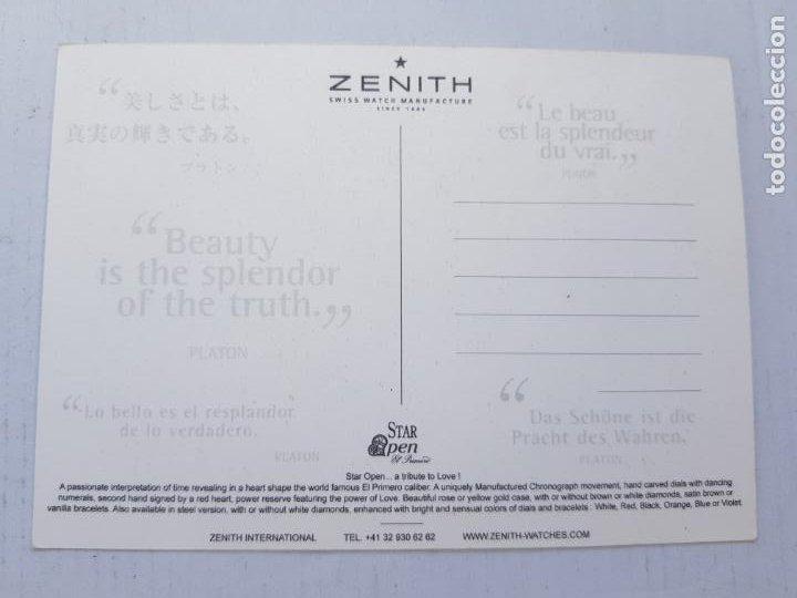 Relojes - Zenith: ZENITH POSTAL PUBLICITARIA - Foto 2 - 248190600